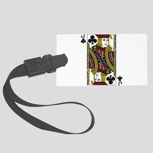 Jack of Clubs Large Luggage Tag
